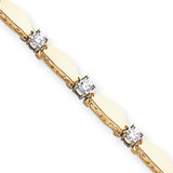 Diamond tennis bracelet 14k Gold X2362AA