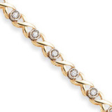 2.6mm Diamond Tennis Bracelet Mounting 14k Gold X2365