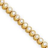 Diamond tennis bracelet 14k Gold X2896AA