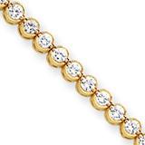 Diamond tennis bracelet 14k Gold X2902AA