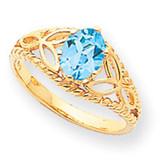8x6 Oval Gemstone Filigree Ring Mounting 14k Gold Polished X6102
