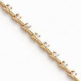 Diamond tennis bracelet 14k Gold X635AA