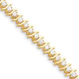Diamond tennis bracelet 14k Gold X706AA