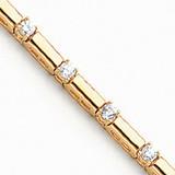 3.3mm Diamond Tennis Bracelet Mounting 14k Gold X763