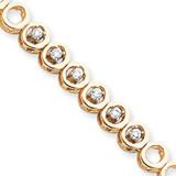 Add-a-Diamond Tennis Bracelet Mounting 14k Gold X853