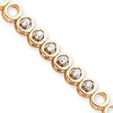 Add-a-Diamond Tennis Bracelet Mounting 14k Gold X856