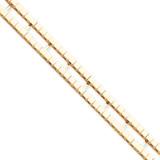 Tennis Jacket Blank 14k Gold X867/5.5-6.5