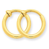 Non-Pierced Hoop Earrings 14k Gold X93