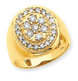Fancy Polished Mens Diamond Ring Mounting 14k Gold X9425
