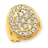 Fancy Polished Circular To Mens Diamond Ring Mounting 14k Gold X9427