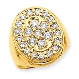 Diamond men's ring 14k Gold X9427AA