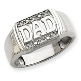 Diamond men's ring 14k White Gold X9459WAA