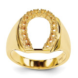Mens Diamond Horseshoe Ring Mounting 14k Gold X9460
