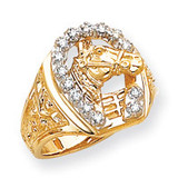 Diamond men's ring 14k Two-Tone Gold X9464AA