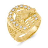 Diamond men's ring 14k Gold X9465AA