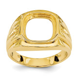 Men's Onyx Ring Mounting 14k Gold X9477