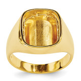 Rounded Square Mens Diamond & Onyx Ring Mounting 14k Gold X9478