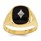 Diamond men's ring 14k Gold X9478AA