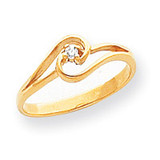 0.03ct. Diamond Ring Mounting 14k Gold Polished X9515