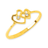 Diamond heart ring 14k Gold Polished X9552AA