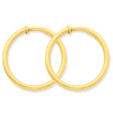 Non-Pierced Hoop Earrings 14k Gold X99