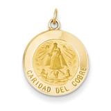 Caridad Del Cobre Medal Pendant 14k Gold XAC214