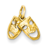 Comedy/Tragedy Charm 14k Gold XAC340