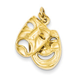 Comedy Tragedy Charm 14k Gold XAC341
