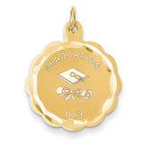 Graduation Day Charm 14k Gold XAC36