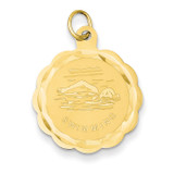 Swimming Disc Charm 14k Gold XAC393