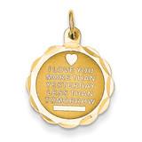 Love Charm 14k Gold XAC494