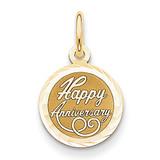 Happy Anniversary Charm 14k Gold XAC568
