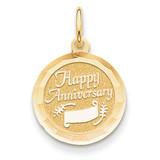 Happy Anniversary Charm 14k Gold XAC570