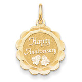 Happy Anniversary Charm 14k Gold XAC572