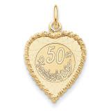 Happy 50th Anniversary Charm 14k Gold XAC583