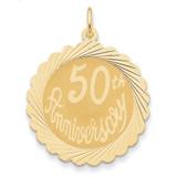 Happy 50th Anniversary Charm 14k Gold XAC584