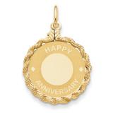 Happy Anniversary Charm 14k Gold XAC587
