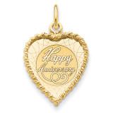 Happy Anniversary Charm 14k Gold XAC589