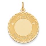 Happy Anniversary Charm 14k Gold XAC594