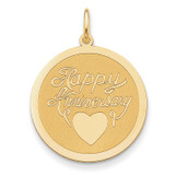 Happy Anniversary Charm 14k Gold XAC595
