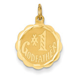 #1 Godfather Charm 14k Gold XAC654