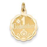 #1 Godmother Charm 14k Gold XAC655