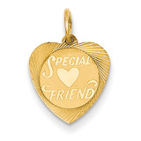 Special Friend Charm 14k Gold XAC657