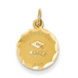 Graduation Day Charm 14k Gold XAC681