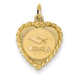 Graduation Cap Charm 14k Gold XAC686