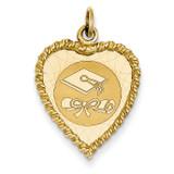 Graduation Cap Charm 14k Gold XAC693