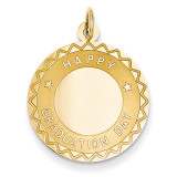 Happy Graduation Day Charm 14k Gold XAC698