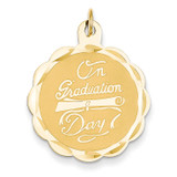 Graduation Day with Diploma Charm 14k Gold XAC699