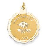 Graduation Day with Diploma Charm 14k Gold XAC702