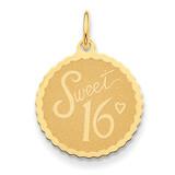 Sweet 16 Charm 14k Gold XAC751